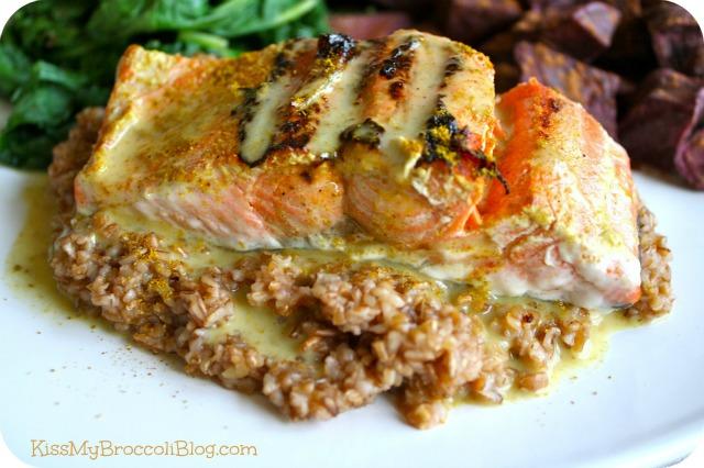 Coconut Curry Salmon & Grains
