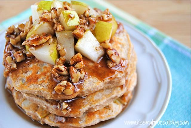 Ginger Pear Pancakes with Maple Pecan Syrup - 3
