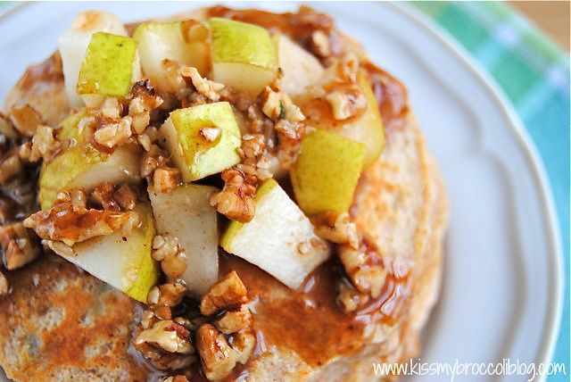 Ginger Pear Pancakes with Maple Pecan Syrup - 4