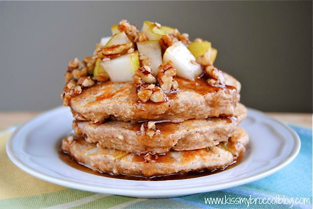 Ginger Pear Pancakes with Maple Pecan Syrup - 6