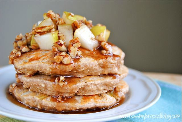 Ginger Pear Pancakes with Maple Pecan Syrup - 7