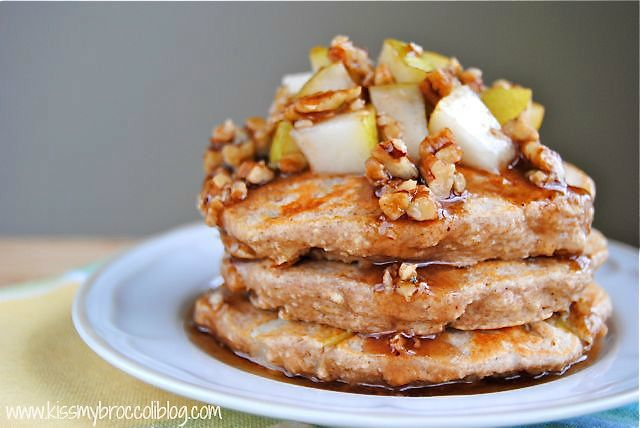 Ginger Pear Pancakes with Maple Pecan Syrup - 8