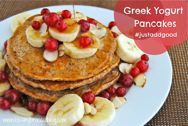 Greek Yogurt Pancakes - TITLE