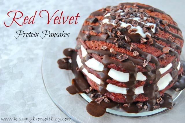 Red Velvet Protein Pancakes - TITLE