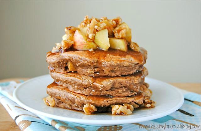 Apple Pie Protein Pancakes - 1