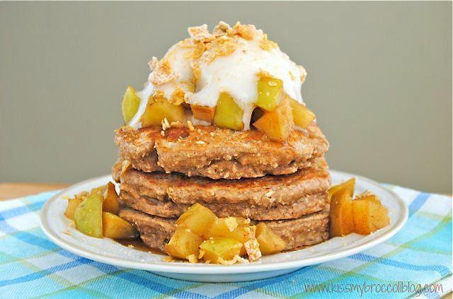 Apple Pie Protein Pancakes - 5