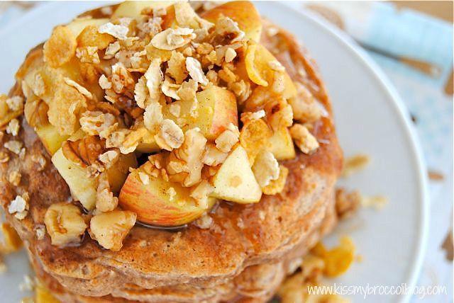 Apple Pie Protein Pancakes 8