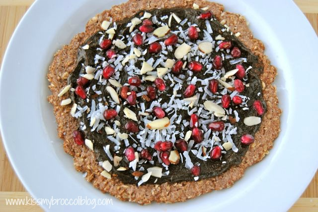 Chocolate Pomegranate Dessert Pizza 1