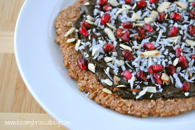 Chocolate Pomegranate Dessert Pizza 2
