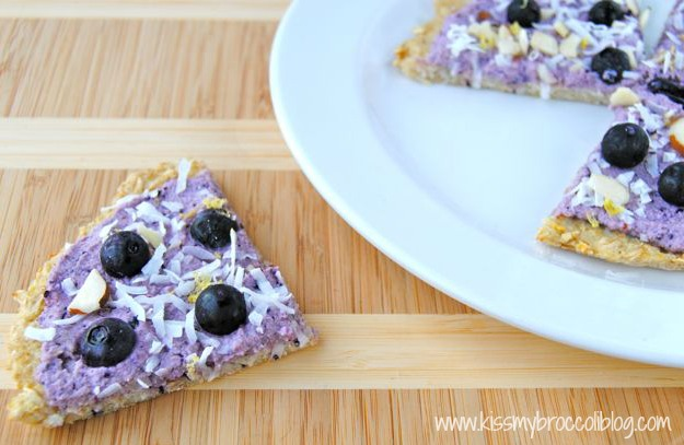 Lemon Blueberry Dessert Pizza Slice