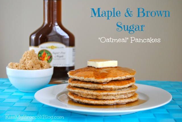 Maple & Brown Sugar Oatmeal Pancakes