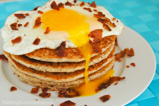 Maple & Brown Sugar Pancakes with Drippy Egg & Bacon