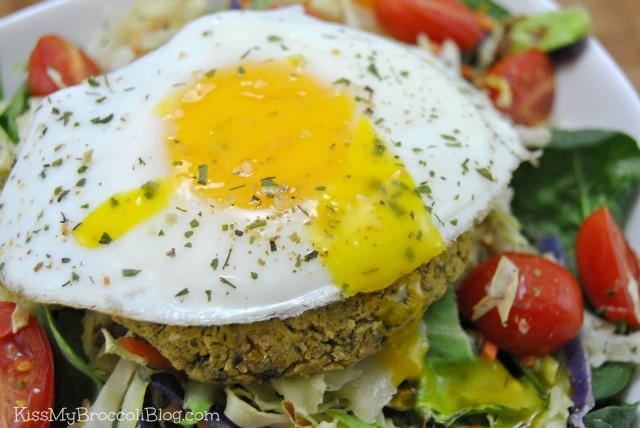 Egg & Falafel Burger Salad
