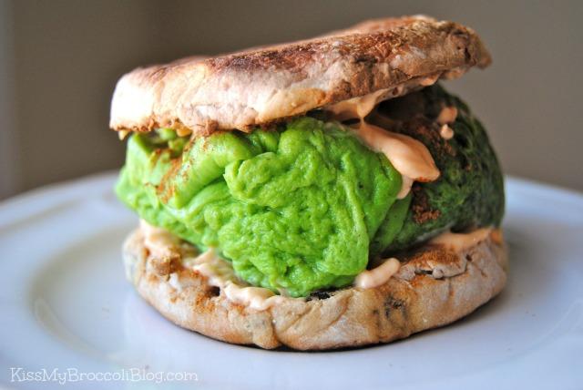Green Egg Sandwich with Pumpkin Cream Cheese