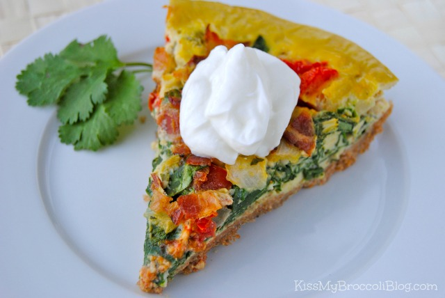 Quiche with Yogurt Dollop