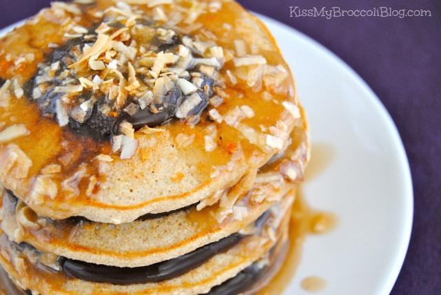 Samoa Cookie Pancakes-