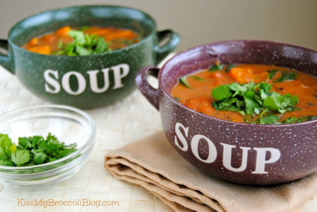 Sweet & Spicy Sweet Potato Soup.