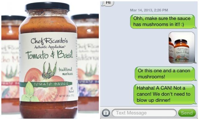 Tomato Sauce Text