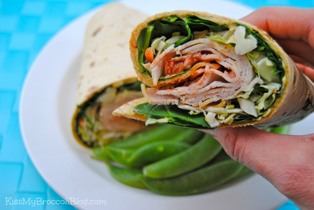 Turkey Wrap & Veggies