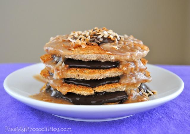 Vegan Samoa Cookie Pancakes