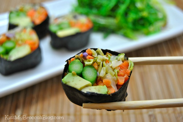 Avocado Cabbage Sushi 3