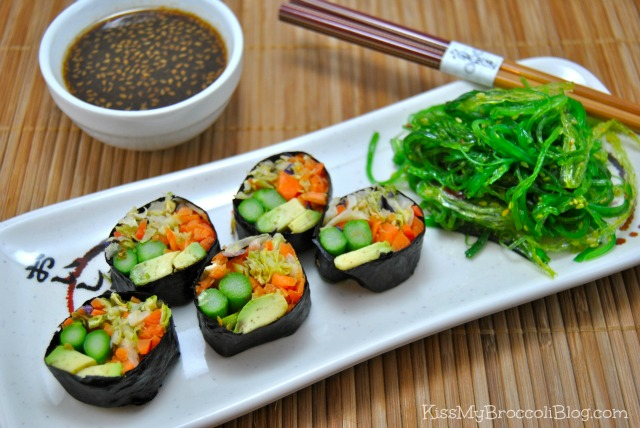 Avocado Cabbage Sushi 5