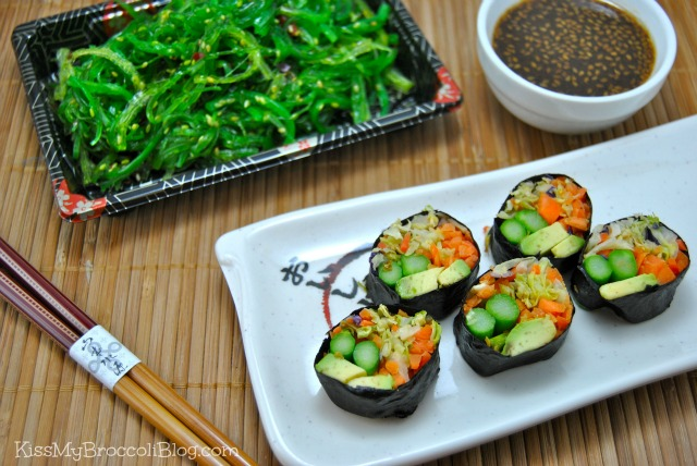 Avocado Cabbage Sushi 6
