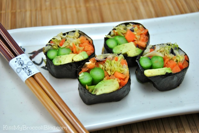 Avocado Cabbage Sushi