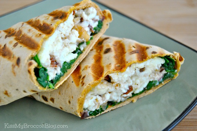 Cranberry Goat Cheese Breakfast Wrap