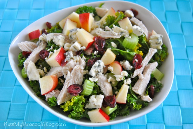 Kale Salad with Blue Cheese