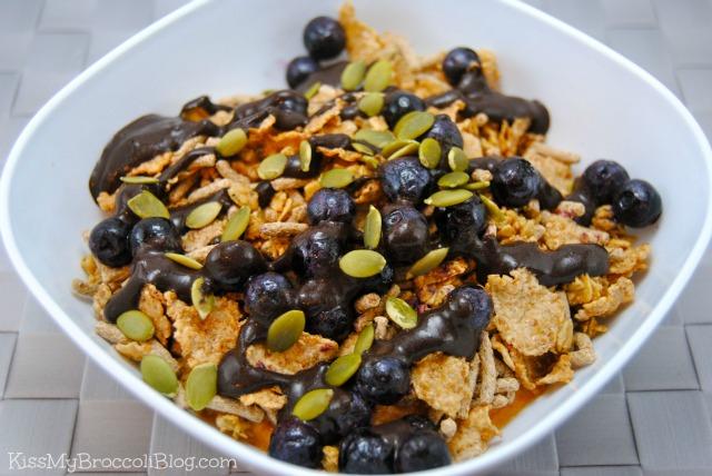 Pumpkin Peanut Flour Blueberries