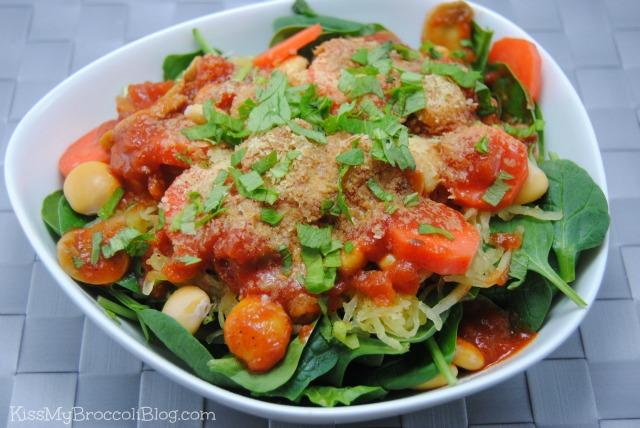 Spaghetti Squash Lupini Beans