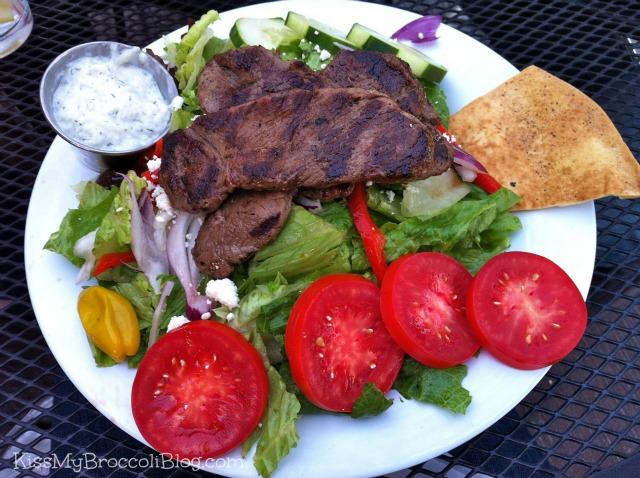 Tzatziki's Greek Salad with Lamb