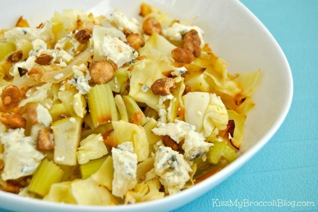 Roasted Cabbage Salad with Gorgonzola