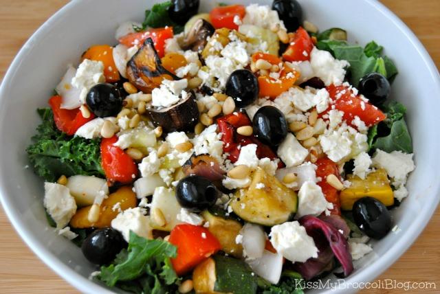 Grilled Veggie & Feta Salad