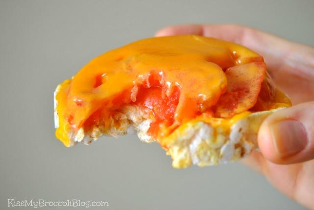 Rice Cake Cheese & Tomato 2