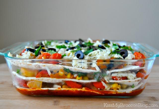 Veggie-fied Mexican Lasagna 1