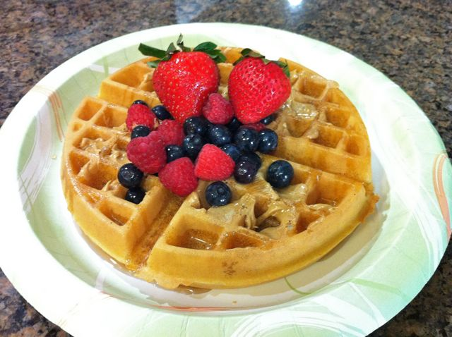 Peanut Butter Berry Waffle