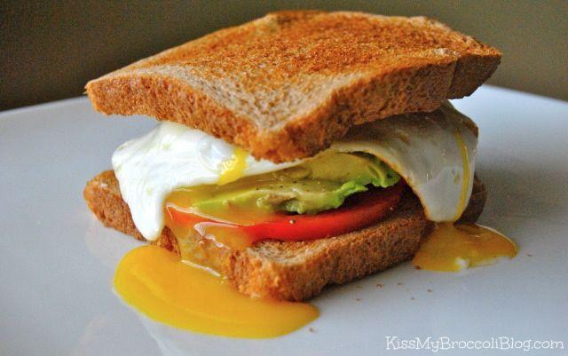 EAT (Egg, Avocado, Tomato) Sandwich