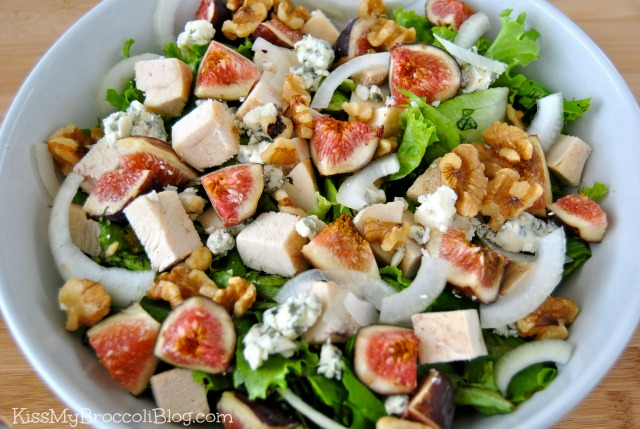 Fig Walnut Bleu Cheese Salad