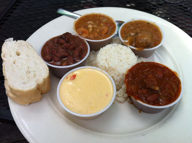 The Bayou Soup Sampler