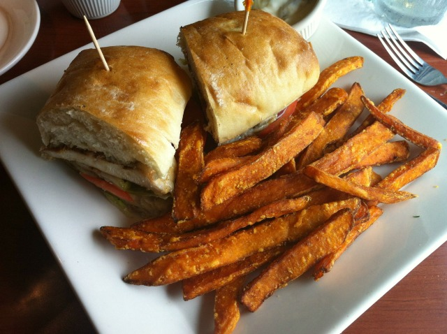 O'Charley's Chicken Sandwich & Sweet Potato Fries