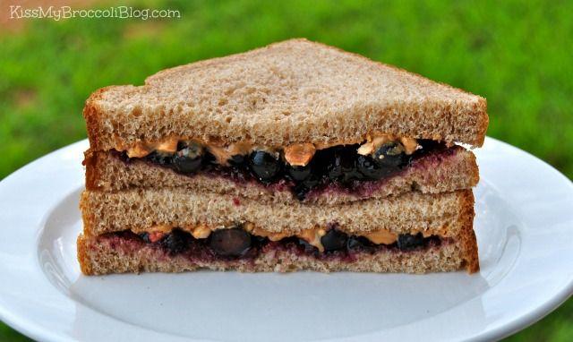 Peanut Butter Blueberry & Jelly Sandwich