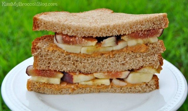 Peanut Butter Fig & Banana Sandwich