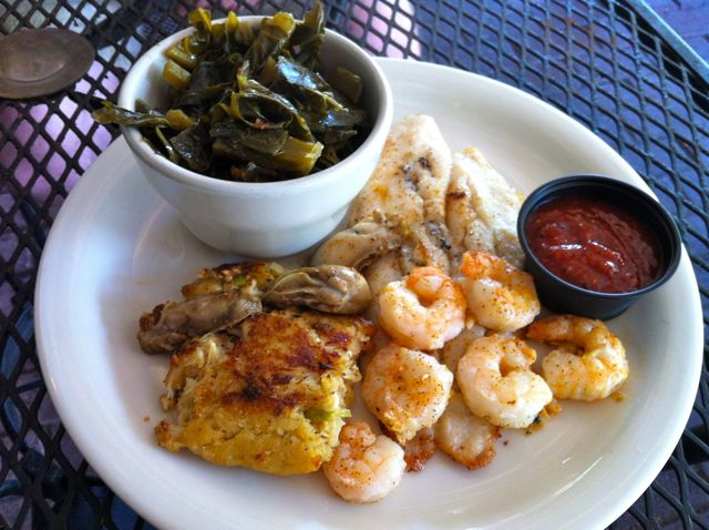 Seafood Platter & Greens