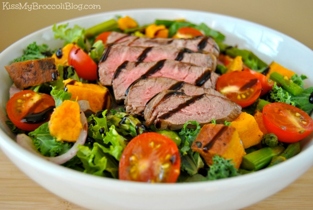Leftover Steak Salad with Truffle Glaze