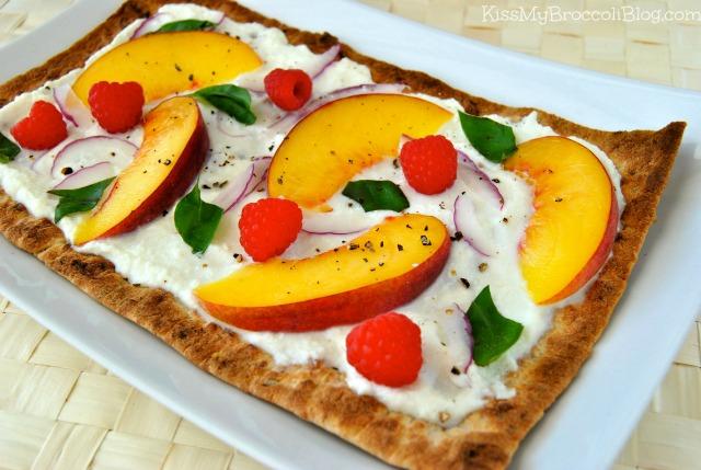 Peach Raspberry & Basil Flatbread 1