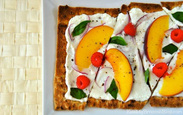 Peach Raspberry & Basil Flatbread 3
