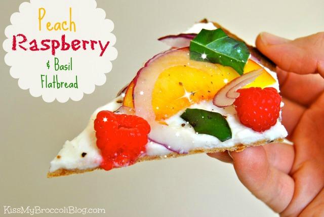 Peach Raspberry & Basil Flatbread Title 2
