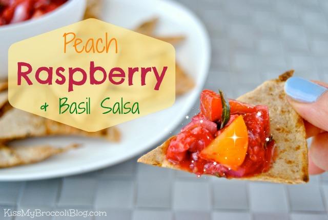 Peach Raspberry & Basil Salsa Title 1